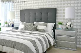 How To Make A Platform Bed With Headboard by Diy Upholstered Headboard With A High End Look