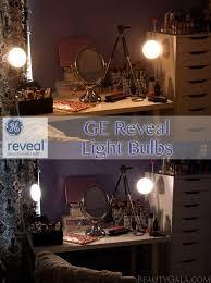 vanity lighting makeover with ge reveal light bulbs beauty gala