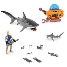 animal planet tiger shark encounter playset toys