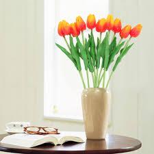 Wedding Home Decoration Aliexpress Com Buy 10pcs Artificial Tulip Flowers Wedding
