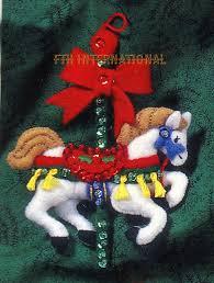bucilla carousel horses 8 piece felt christmas ornament kit