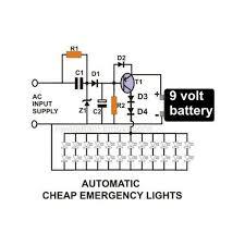 how emergency light works led emergency light circuit