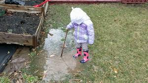 splish splashing in backyard