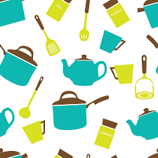 clipart kitchen utensils crockery wallpaper