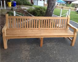 8ft bench perfect for commercial use