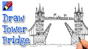 how to draw london u0027s tower bridge youtube