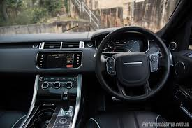 land rover range rover sport 2015 interior 2016 range rover sport svr review video performancedrive