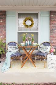 Blue Bistro Chairs Spring Porch Refresh Via Rachel Of Shades Of Blue Interiors For