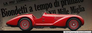 1938 alfa romeo 8c 2900b mm spyder simeone foundation automotive