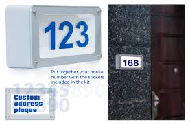 house number light box custom led address numbers lighted address plaques torchstar