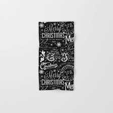 christmas towels black and white christmas typography design bath towel by