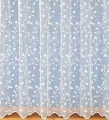 bella pretty floral white net curtains drop sizes 27