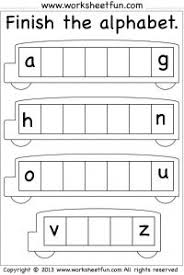 trace and write the missing letters letter worksheets the