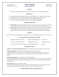 Sle Photography Resume photography objective resume pertamini co