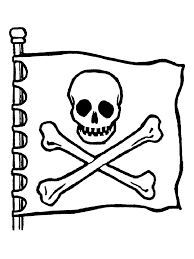 clip art skull and crossbones coloring pages mycoloring free