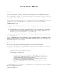 cover letter resume bullet points examples examples of resume