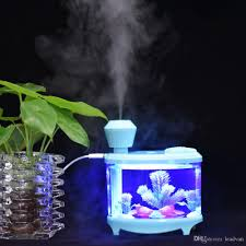 mist humidifier air ultrasonic humidifiers aroma essential 460ml usb fish tank air ultrasonic humidifiers with led night light