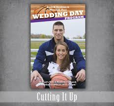 magazine wedding programs basketball wedding program basketball wedding sports wedding
