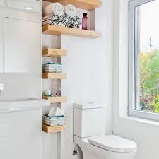 Bathroom Shelf Decorating Ideas by Bathroom Bright Bathroom Design Idea With Awesome White Wall