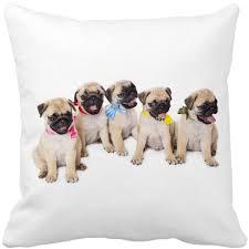 pug home decor cute small bulldog dog pet cushion print car decorative throw