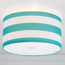 Flush Lights Deck Stripe Drum Shade Ceiling Light Drum Shade Flush Mount