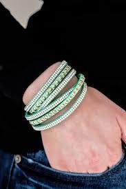 double wrap bracelet images Paparazzi i bold you so green rhinestone double wrap bracelet jpg