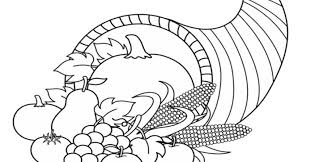 coloring page wonderful cornucopia coloring thanksgiving songs