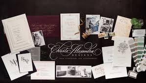 custom designed wedding invitations christa alexandra designs wedding invitations letterpress