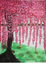 cherry blossom tree cherry blossom tree painting by xxravingpandabearxx on deviantart