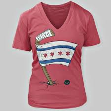 Chicagos Flag Hockey Chicago Flag Women U0027s V Neck T Shirt Chicago Tribune Store