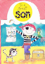 pirate son birthday card karenza paperie