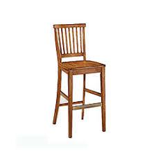 mission style oak bar stools