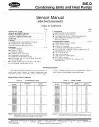 carrier 38e user manual 20 pages
