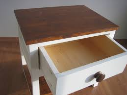 modern side tables for bedroom best bedside tables with modern warm cherry wooden design on top