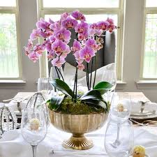 orchid centerpiece how to make a simple and beautiful orchid arrangement decor gold