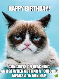 Grumpy Cat Meme Happy Birthday - sarcastic birthday wishes funny messages for those closest to you