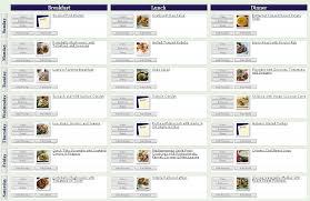 sample meal planning 9 best meal plan images on pinterest