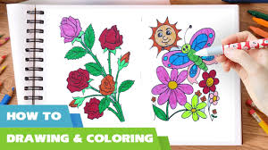 rose flower with butterfly coloring pages flowers coloring book