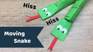 moving paper snake easy to do craft for preschool kids youtube