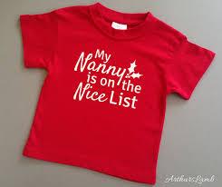nanny nice list christmas t shirt christmas gift ideas grandmother