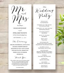 wedding programs printable byron printable wedding order of service template connie joan