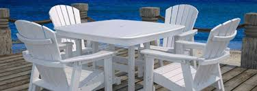 Plastic High Back Patio Chairs by Captivating Plastic Patio Tables And Chairs With 6 Gorgeous