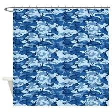 Realtree Shower Curtain Blue Camouflage Curtains Navy Shower Curtain Blue Realtree