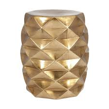 shop imax worldwide ik geometric 18 in gold ceramic barrel garden