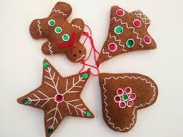diy ornaments ideas felt gingerbread tree for diy ornaments