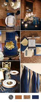 blue and gold decoration ideas beautiful navy blue wedding theme photos styles ideas 2018