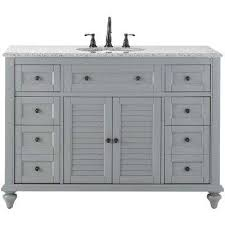 Discount Bathroom Vanities Atlanta Ga by Single Sink Bathroom Vanities Bath The Home Depot