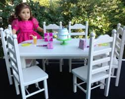 american doll table and chairs american doll furniture table 6 chairs stained dark oak
