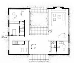 Courtyard Homes Floor Plans by Philip Johnson Hodgson House Architecture Important