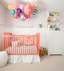 Traditional Accent Light Pink Walls Nursery Transitional With Colorful Accents